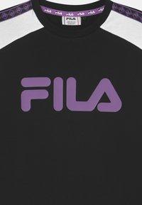 Fila - LEAH TAPED TEE - Vestito di maglina - black/bright white - 2