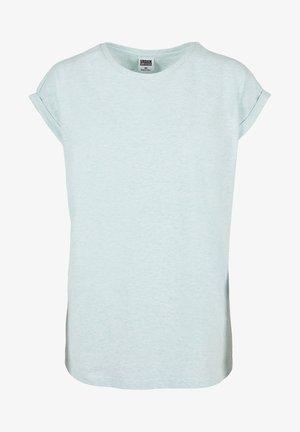 Basic T-shirt - aqua melange