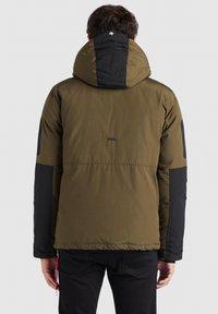 khujo - NANDU - Winter jacket - oliv-schwarz kombo - 6