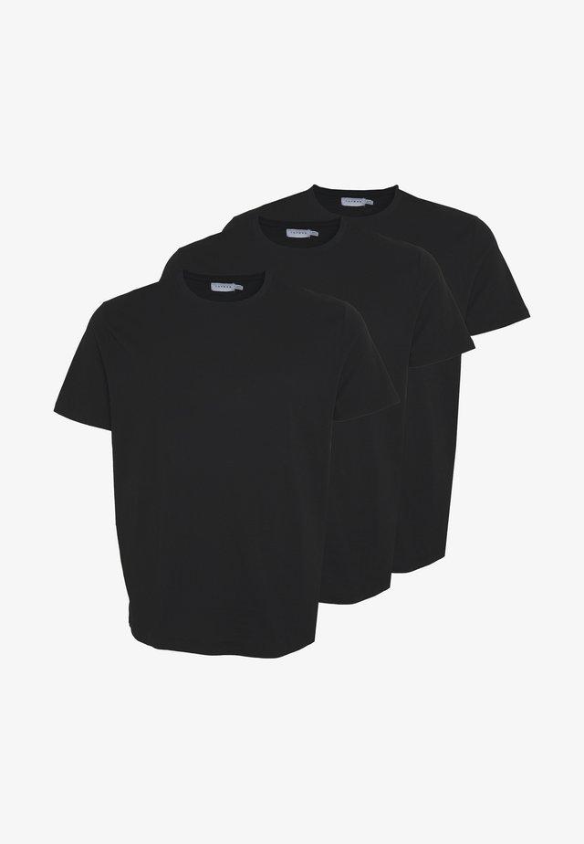 CLASSIC 3 PACK - Jednoduché triko - black