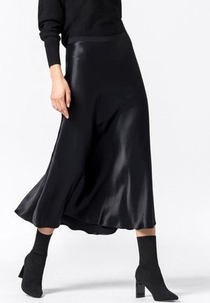 ROCK SWIRLING - A-line skirt - schwarz