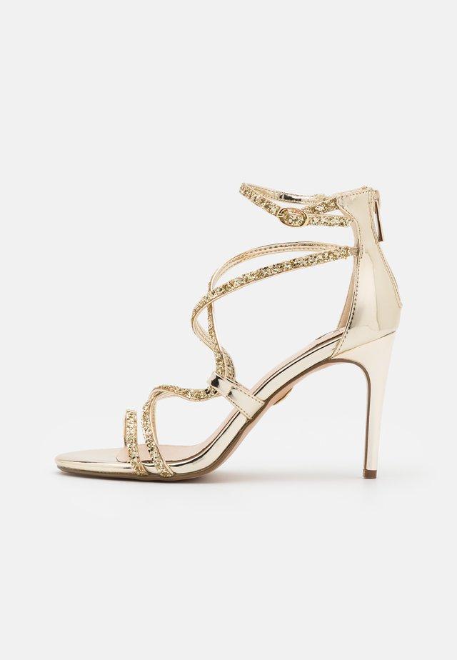 MERCY - Sandały na obcasie - light gold
