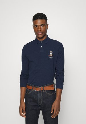 LONG SLEEVE - Polo shirt - medieval blue heather