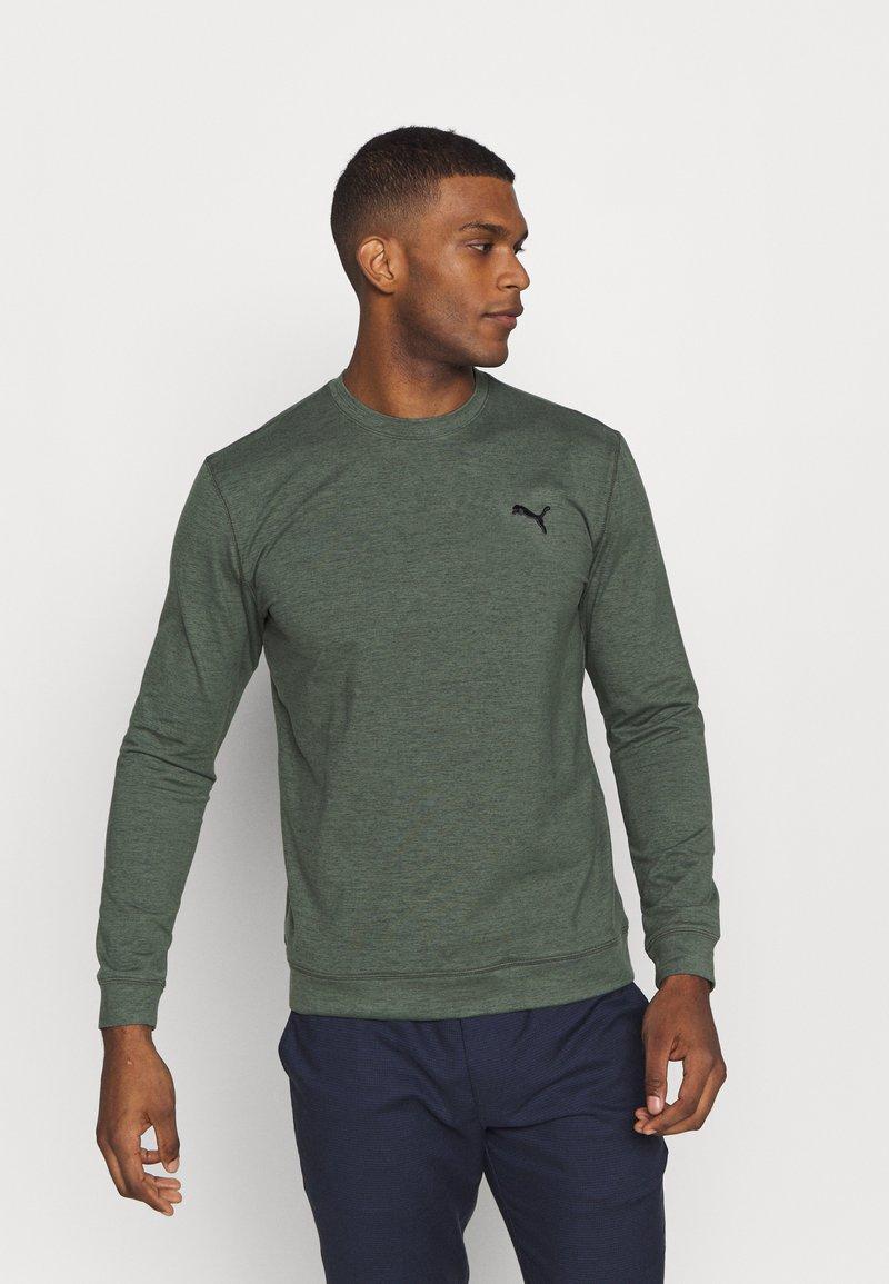 Puma Golf - CLOUDSPUN CREWNECK - Sweatshirt - thyme heather