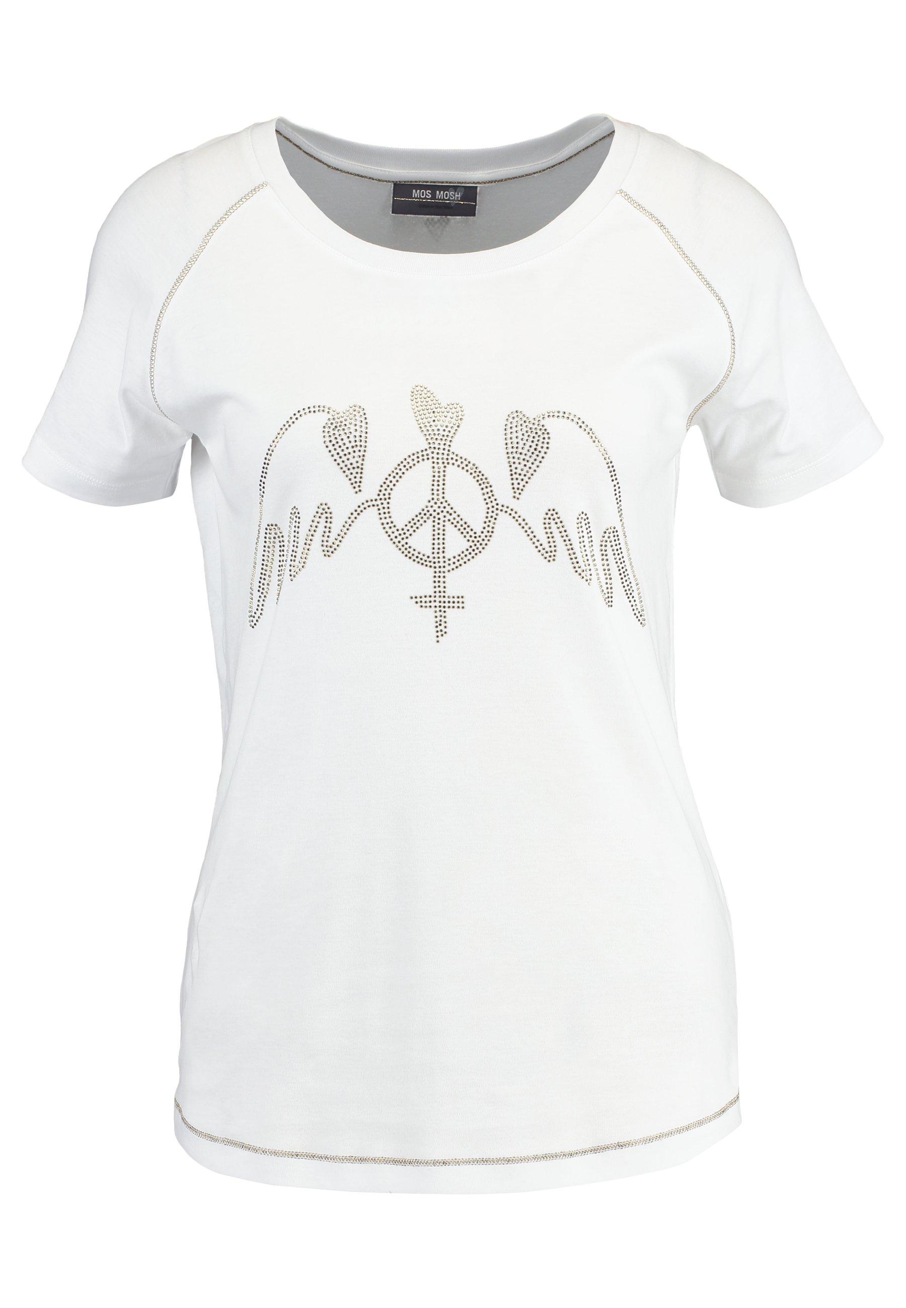 Mos Mosh Mag Tee - T-shirt Print White
