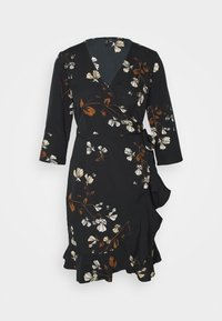 Vero Moda - VMHENNA WRAP DRESS - Kjole - black - 5