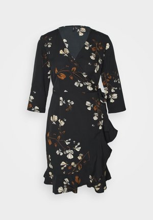 VMHENNA WRAP DRESS - Day dress - black