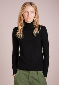 pure cashmere - TURTLENECK - Svetr - black - 0