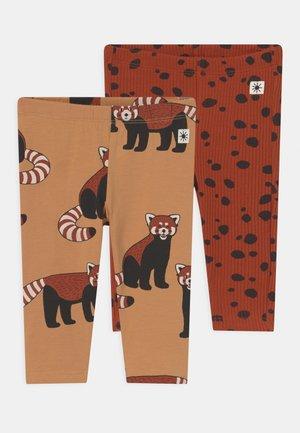 PANDA DOTS 2 PACK - Leggings - Trousers - dark beige