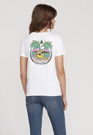 STOKED ON STONE TEE - Print T-shirt - white