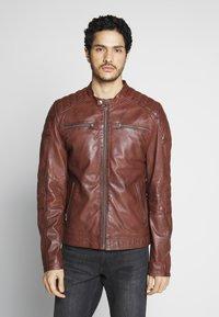 Goosecraft - Veste en cuir - rodeo brown - 0