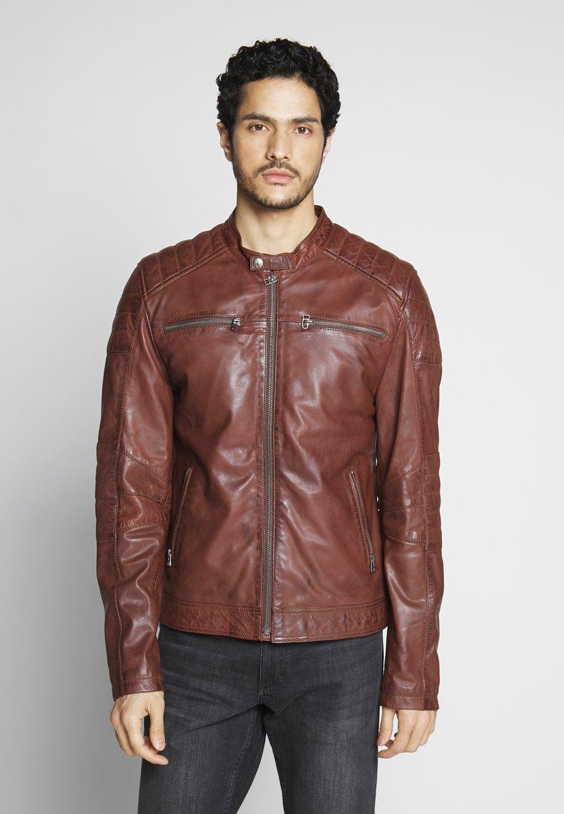 Goosecraft - Veste en cuir - rodeo brown