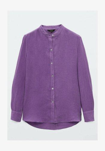 UNIFARBENES  - Button-down blouse - dark purple