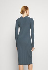 Proenza Schouler White Label - ZIP CARDIGAN DRESS - Strickkleid - petrol - 2