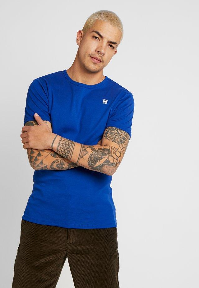 BASE R T S/S - T-shirt basic - blue/white
