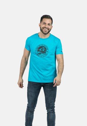 ZURICH - T-shirt imprimé - turquoise
