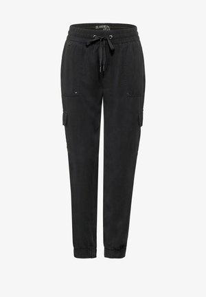 IM STIL - Cargo trousers - schwarz