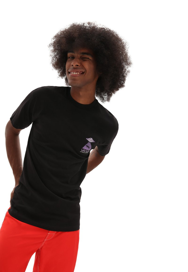 Vans - MN AREA 66 SS - T-shirt con stampa - black