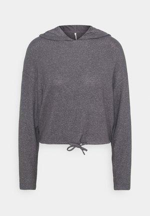 ONLZIRA HOOD - Kapuzenpullover - medium grey melange/plain