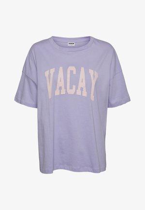 OVERSIZE  - Print T-shirt - lavender fog