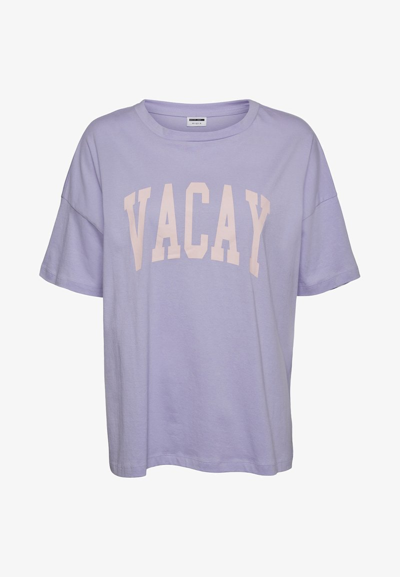 Noisy May - NMIDA - Print T-shirt - lavender fog