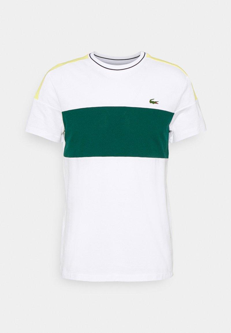 Lacoste Sport - TOUR - Print T-shirt - white/swing/daphne yellow/black