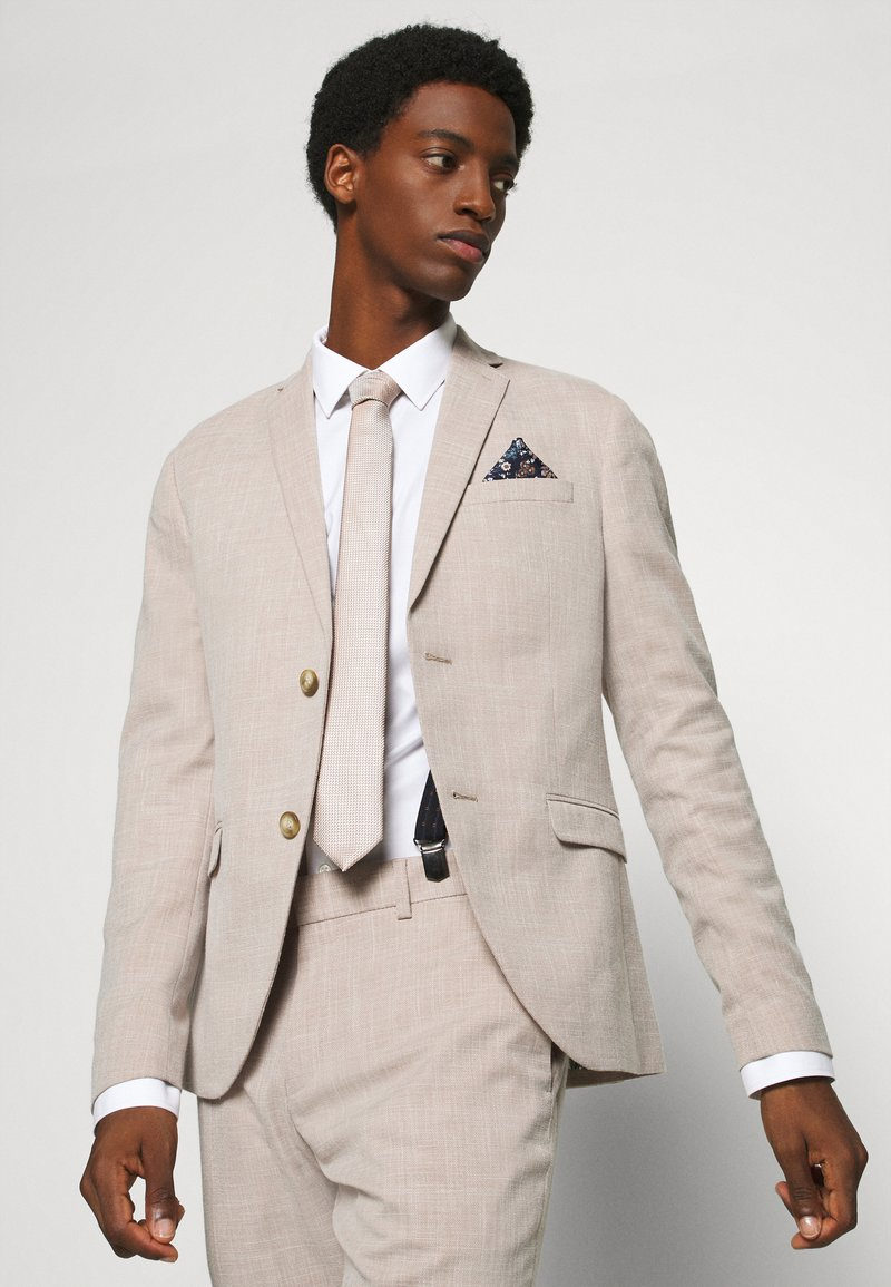 Burton Menswear London - CHAMPAGNE FLORAL SET - Pocket square - neutral