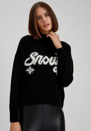 CHRISTMAS JUMPER - Jumper - black