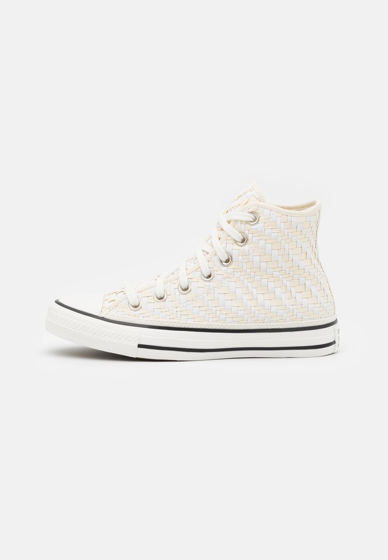 Converse - CHUCK TAYLOR ALL STAR TONAL WEAVING UNISEX - Korkeavartiset tennarit - white/black