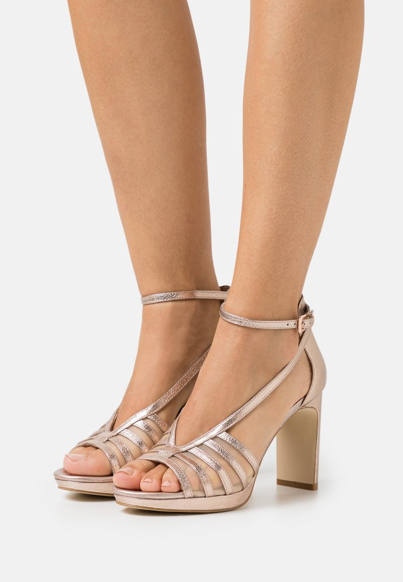 Anna Field - LEATHER - High heeled sandals - rose gold