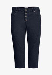PULZ - Jeans Short / cowboy shorts - dark sapphire - 6