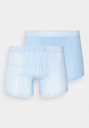 MEN VERTICAL STRIPE BRIEF 2 PACK - Boxerky - light blue
