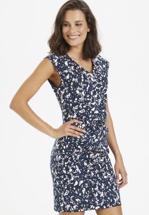 KAMELISA INDIA D - Shift dress - midnight marine print