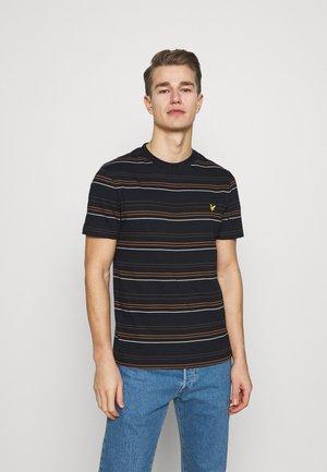 MULTI STRIPE - T-shirt med print - dark navy