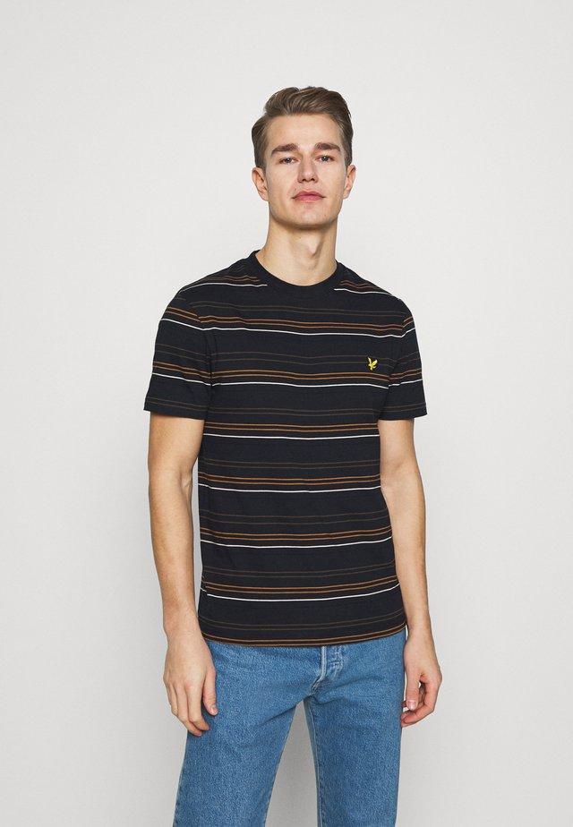 MULTI STRIPE - T-shirt print - dark navy