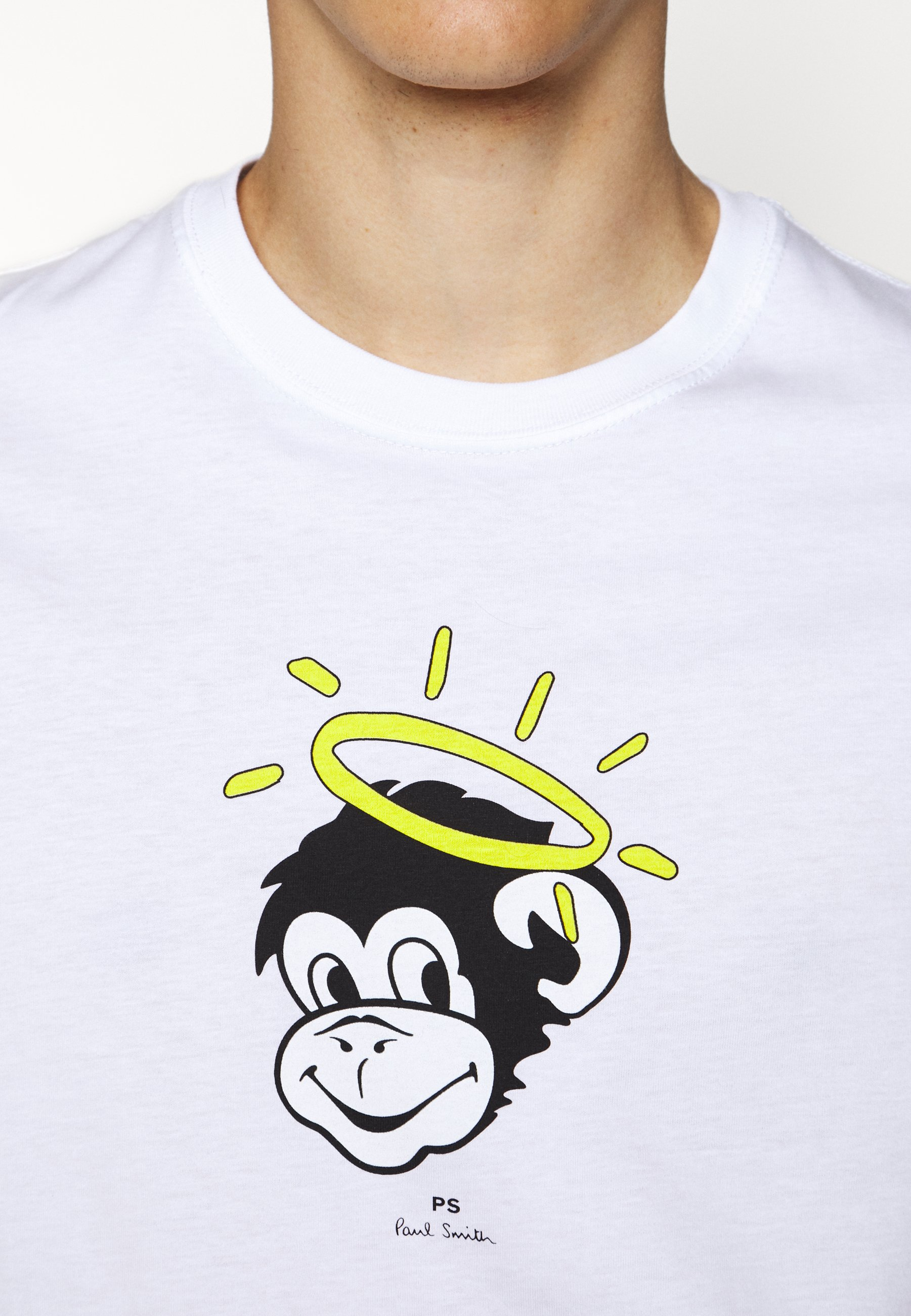 PS Paul Smith MENS SLIM FIT MONKEY HALO - T-shirts med print - mottled grey