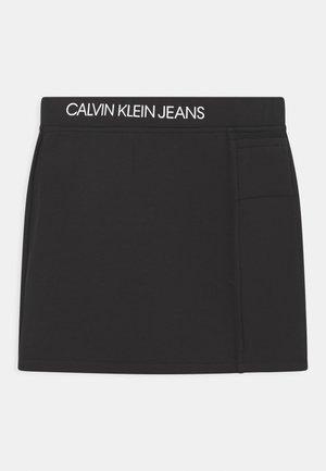 REVERSIBLE MINI SKIRT - Mini skirt - black
