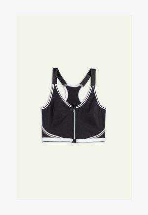 High support sports bra - black/white