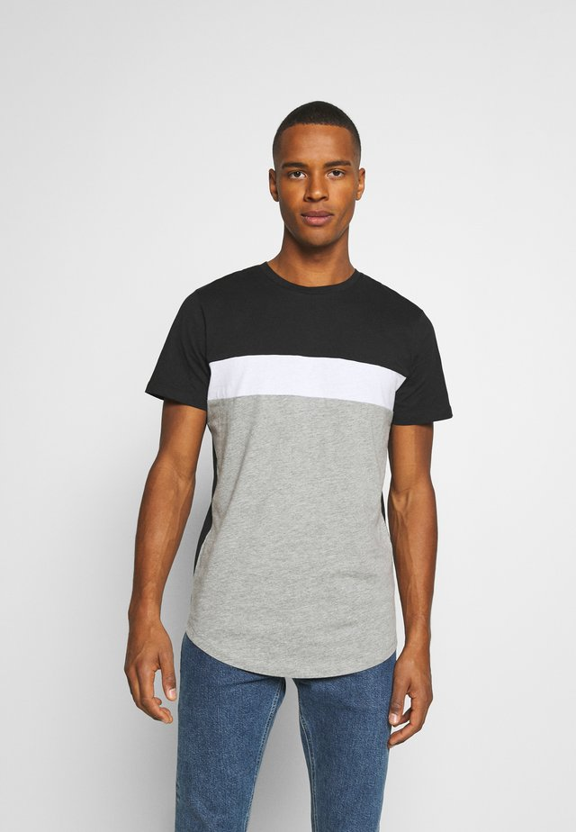 JORCALLIEE TEE CREW NECK - T-shirt imprimé - light grey melange