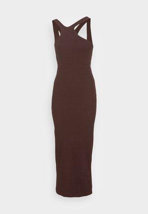 VIC ONE SHOULDER DRESS - Jersey dress - brown