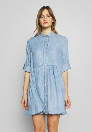 DRESS - Denim dress - lightblue