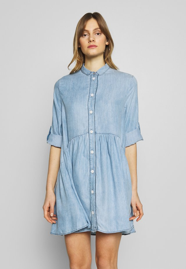DRESS - Denim dress - lightblue