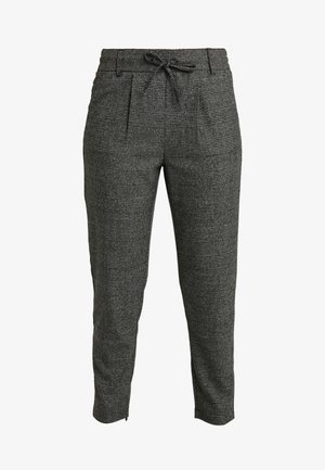 ONLPOPTRASH SOFT CHECK PANT - Trousers - black/cloud dancer