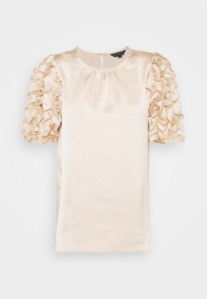 3D SLEEVE TEE - Blouse - champagne