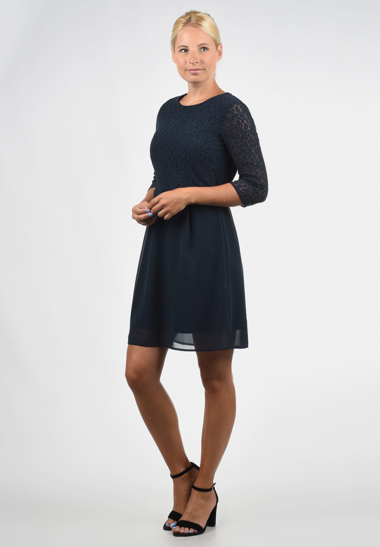 Vero Moda Spitzenkleid Eve Cocktailkleid Festliches Kleid Dark Blue Dunkelblau Zalando De