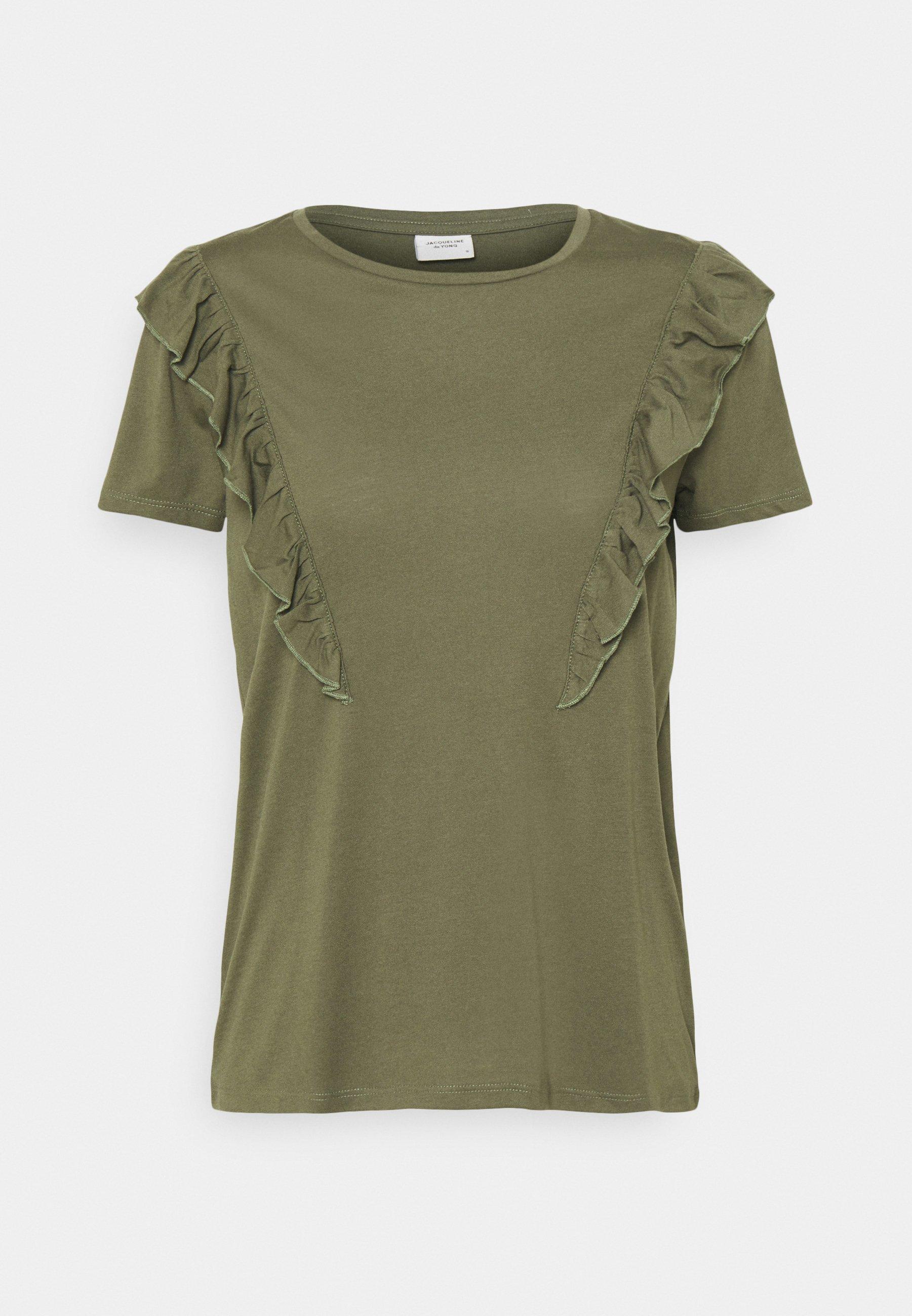 Women JDYKAREN FROSTY FRILL - Print T-shirt