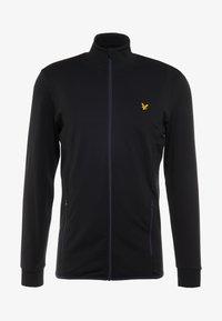 Lyle & Scott - TECH FULL ZIP MIDLAYER - Fleece jacket - true black - 4