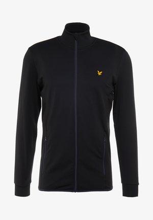 TECH FULL ZIP MIDLAYER - Fleece jacket - true black