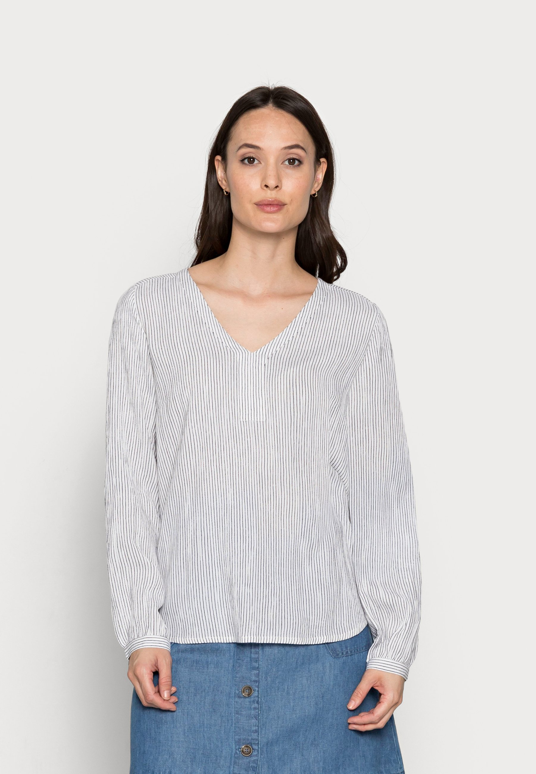 Women STRIPED BLOUSE - Long sleeved top