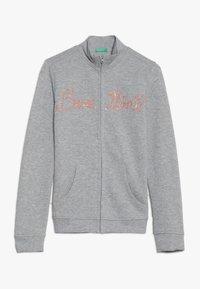 Benetton - JACKET - Zip-up hoodie - grey - 0